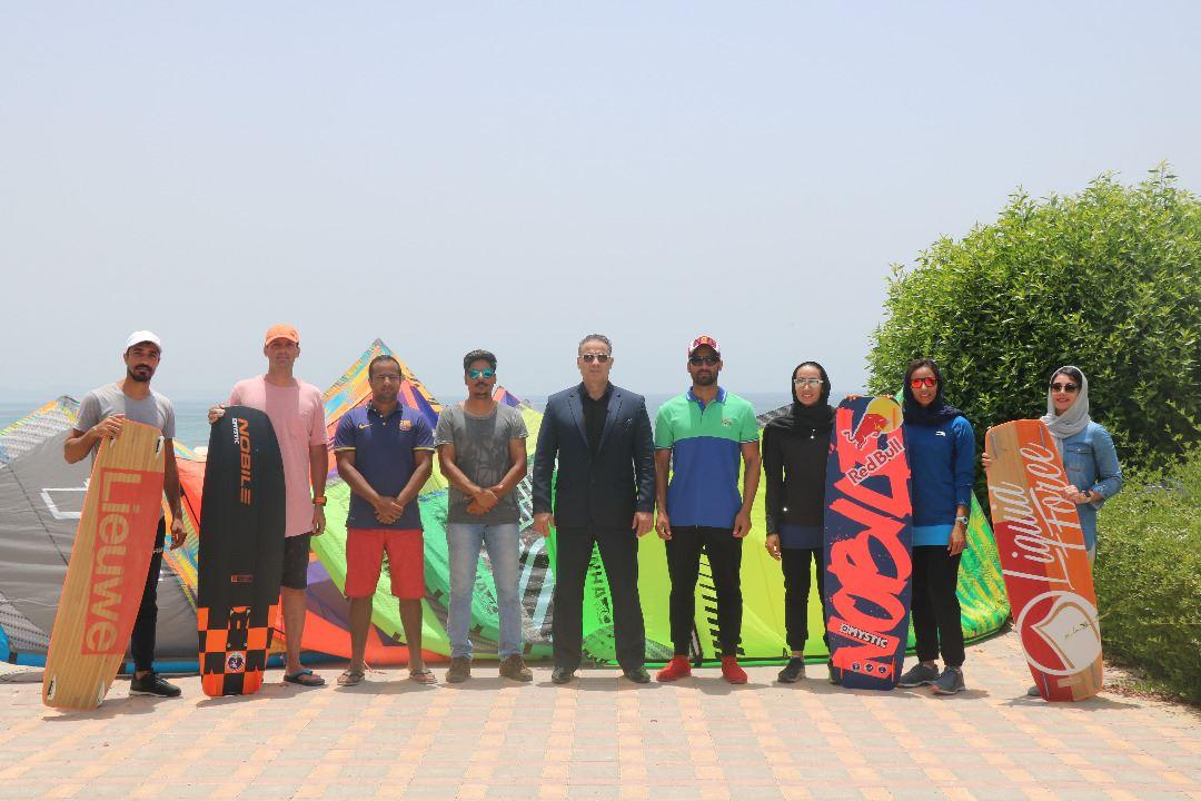 تصویر از نخستین مرحله اردوی آموزشی کایت بردینگ جامعه سیلینگ خلیج فارس