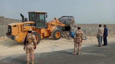تصویر از زمین رفع تصرف شده خارج از طرح هادی و جزو اموال ملی و دولتی است