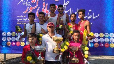 تصویر از منطقه آزاد قشم به مقام سوم مسابقات والیبال ساحلی کشور دست یافت