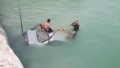 تصویر از خطای لندیگکرافت در «پل» عامل سقوط خودرو به دریا/ ۶ سرنشین در سلامت کامل هستند