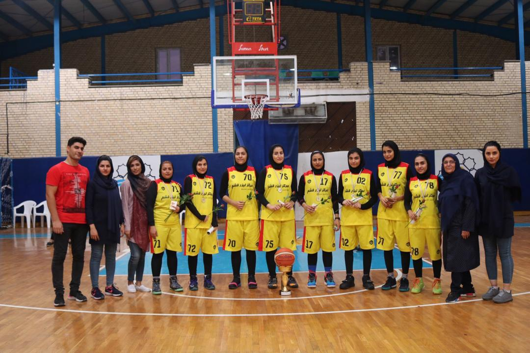 Photo of بسکتبال بانوان قشم، قهرمان مسابقات لیگ برتر استان