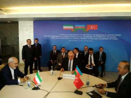 Photo of نشست سه جانبه وزیران خارجه ایران، آذربایجان و ترکیه در باکو برگزارشد